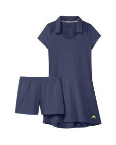 Junior Golf Apparel Adidas Ss20 Girls Ruffle Dress Tech Indigo