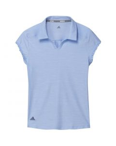 Junior Golf Apparel Adidas Ss20 Girls Spacedye Polo Glow Blue