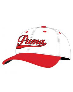 Puma Youth Script Hat White/High Risk Red