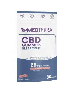 Medterra Cbd Sleep Tight Gummies 25mg 30 Count Front