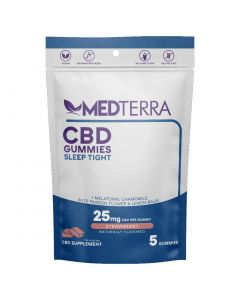 Medterra Cbd Sleep Tight Gummies 25mg 5 Count Front