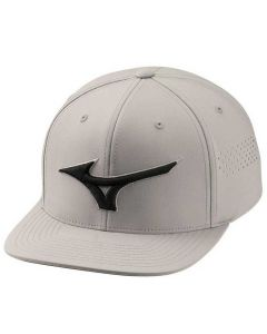 Mizuno Tour Flat Snapback Hat Grey