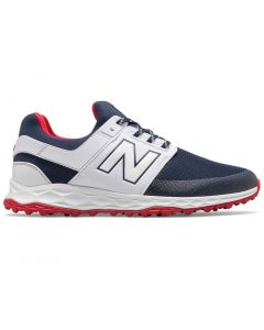 New Balance Fresh Foam Links Sl Golf Shoes Navy White Red Profile