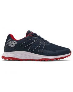 New Balance Fresh Foam Pace Sl Golf Shoes Navy Red Profile