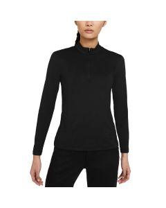 Nike Womens Dri Fit Uv Victory Long Sleeve Polo Black