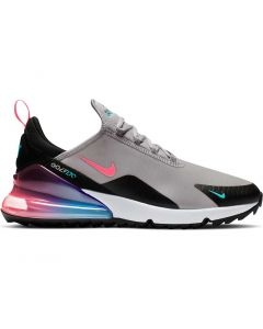 Nike Air Max 270 G Golf Shoes Atmosphere Grey Hot Punch Profile