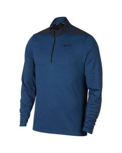 Nike Dri-Fit Half Zip Pullover Gym Blue