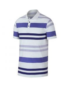 Nike Dri-FIT Player Stripe Polo White/Purple