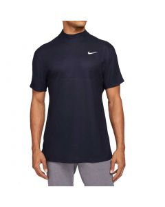 Nike Dri Fit Tiger Woods Mock Neck Polo Blackened Blue