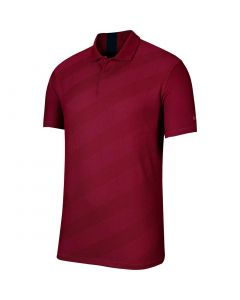 Nike Dri Fit Tiger Woods Stripe Polo Team Red