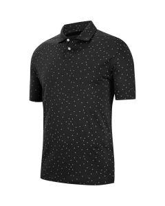 Nike Dri Fit Vapor Micro Print Polo Black
