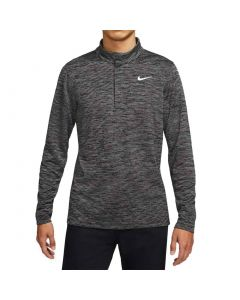 Nike Dri Fit Victory Heather Stripe Half Zip Black