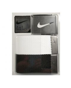 Nike Web Belt 2-Pack White/Black