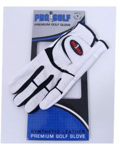 Pro Golf Synthetic Golf Glove White/Black