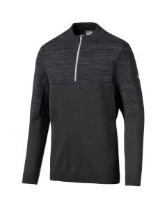 Puma Evoknit Quarter Zip Pullover Black