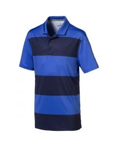 Puma Boys Rugby Stripe Polo Dazzling Blue Peacoat