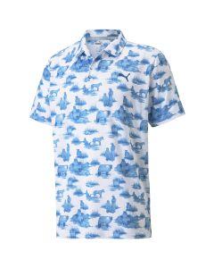 Puma Cloudspun Mowers Polo White Mazarine Blue