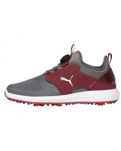 Puma Ignite PWRADAPT Caged Disc Golf Shoes Quiet Shade/Silver/Zinfandel
