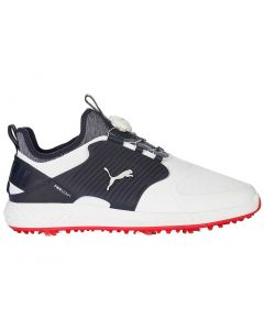 Puma Ignite PWRADAPT Caged Disc Golf Shoes White/Silver/Peacoat