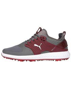 Puma Ignite PWRADAPT Caged Golf Shoes Quiet Shade/Silver/Zinfandel