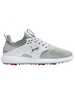 Puma Ignite PWRADAPT Caged Golf Shoes Grey Violet/Silver