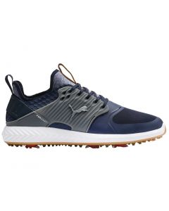 Puma Ignite PWRADAPT Caged Golf Shoes Peacoat/Silver