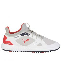 Puma Ignite PWRADAPT LE Golf Shoes Grey Violet/Red