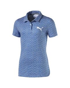 Puma Girls Polka-Dot Polo Nebulas Blue