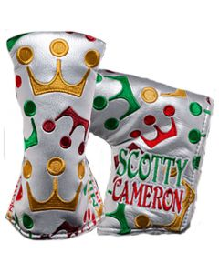 Putter Headcovers Scotty Cameron 2018 Holiday Wrapping Paper Blade Putter Cover