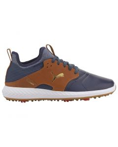 Shoes Puma Ignite Pwradapt Caged Crafted Peacoat Leather Brown Profile