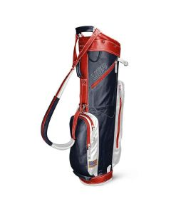 Sun Mountain 2019 Leather Cart Bag Navy/White/Red