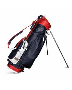 Sun Mountain 2019 Leather Stand Bag Navy/White/Red