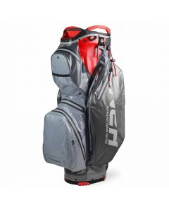 Sun Mountain 2020 H2NO Staff Bag Nickel/Gunmetal/Red