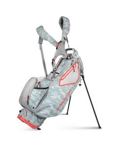 Sun Mountain Womens Ls Way Stand Bag Grey Camo Cement Coral