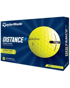 TaylorMade 2021 Distance+ Yellow Golf Balls