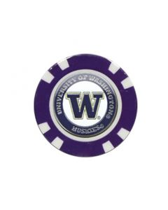 Team Golf NCAA Poker Chip Ball Marker Washington