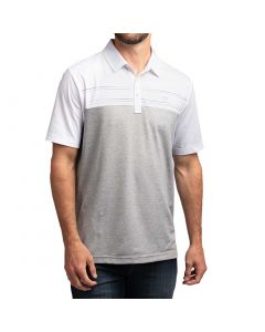 Travismathew Two Drink Minimum Polo White Grey