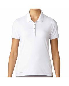 Adidas Women's Essentials Short Sleeve Polo White