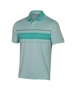 Under Armour Performance Chest Stripe Polo Aqua