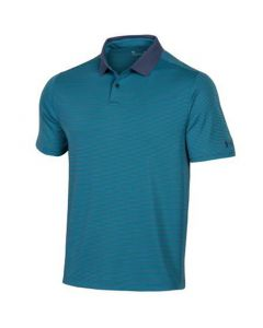 Under Armour Performance Pin Stripe Polo Blue Ink