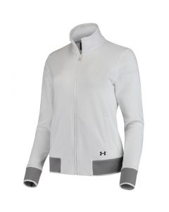 Under Armour Womens Threadborne Full Zip White