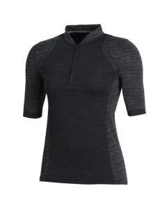 Under Armour Womens Threadborne Seamless Polo Black