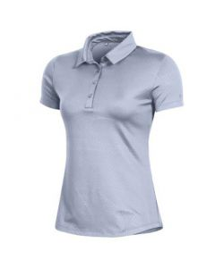 Under Armour Womens Zinger Trig Emboss Polo Moonstone Blue