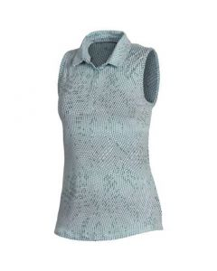 Under Armour Womens Zinger Winder Print Sleeveless Polo Fuse Teal
