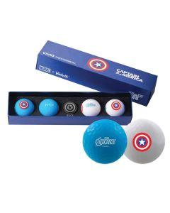 Volvik X Marvel Vivid Golf Balls Captain America