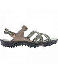FootJoy Women's Golf Sandals Tan/Light Grey