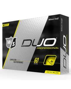Wilson Staff DUO Professional Yellow Golf Balls