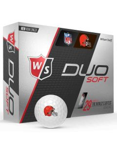 Wilson Staff DUO Soft NFL Golf Balls Cleveland Browns