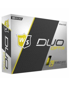 Wilson Staff DUO Optix Personalized Golf Balls Yellow