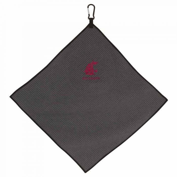 "Team Effort NCAA 15"" X 15"" Grey Microfiber Towel"